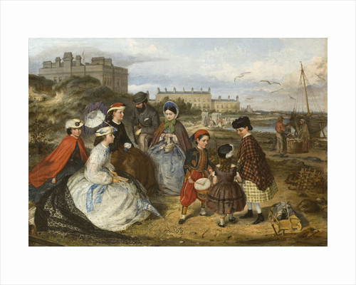 Victorian Family on the Beach, 1860 - 1890 by Charles Wynne Nichollas
