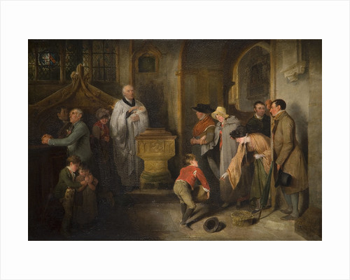 The Christening, Early 19th Century by Edward Bird