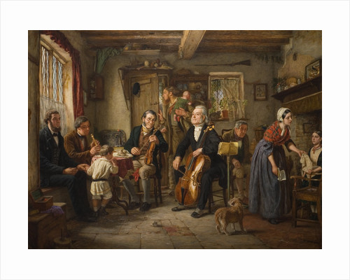 A Philharmonic Rehearsal in a Farm, 1860 by Evan Hodgson