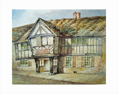 Frontage Of Tudor Shop (Star and Garter Inn, Wolverhampton), 1811 - 1891 by George Wallis