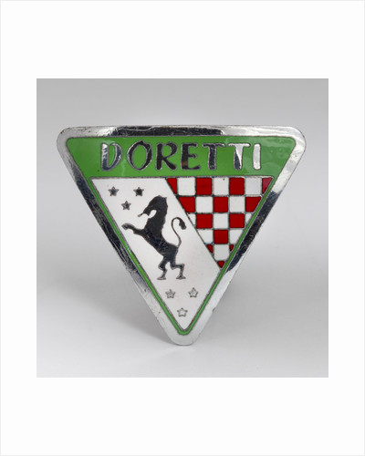 Swallow Doretti vehicle badge, 1953 - 1955 by unknown