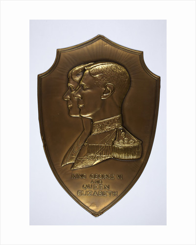 Metcraft plaque commemorating the Coronation of George VI and Queen Elizabeth, Walsall Lithographic Company Limited, 1937. by unknown