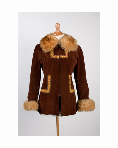 Fitted suede coat, hand-cut by Tarantella of Walsall, 1969 by unknown
