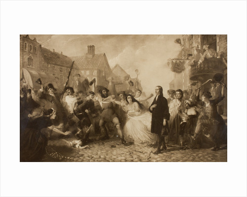 The Mobbing of John Wesley at Wednesbury by unknown