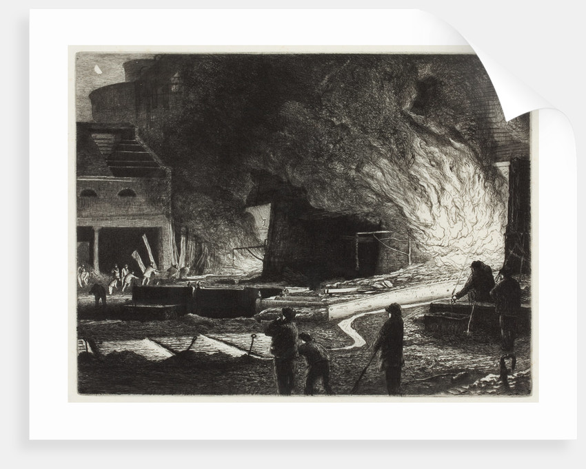 Tapping the Blast Furnaces, 1872 by Richard Samuel Chattock