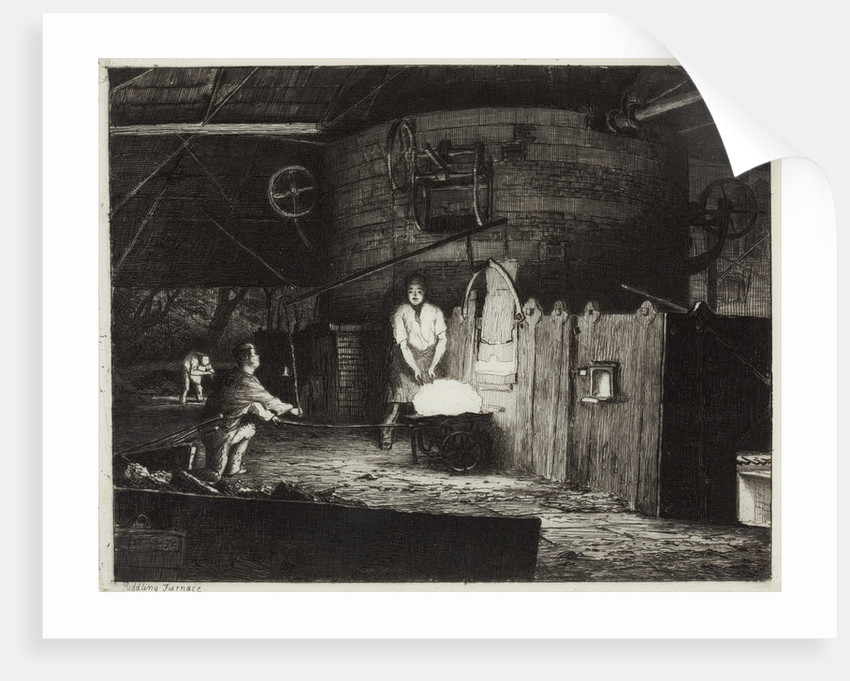 The Puddling Furnace, 1872 by Richard Samuel Chattock