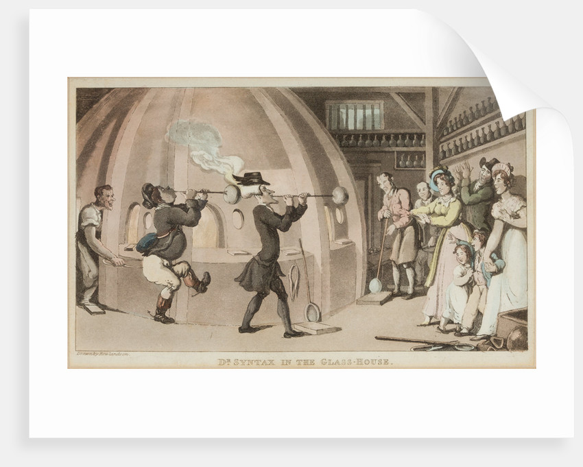Dr Syntax in the Glasshouse, 1760 - 1827 by Thomas Rowlandson