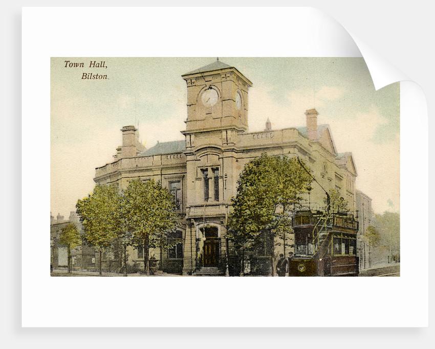 Bilston Town Hall, circa 1910 by unknown