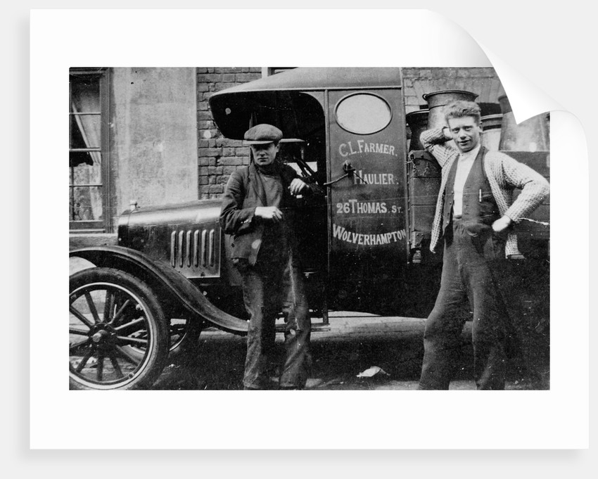 Delivery Lorry & Employees, C. L. Farmer, Wolverhampton, 1920s by unknown