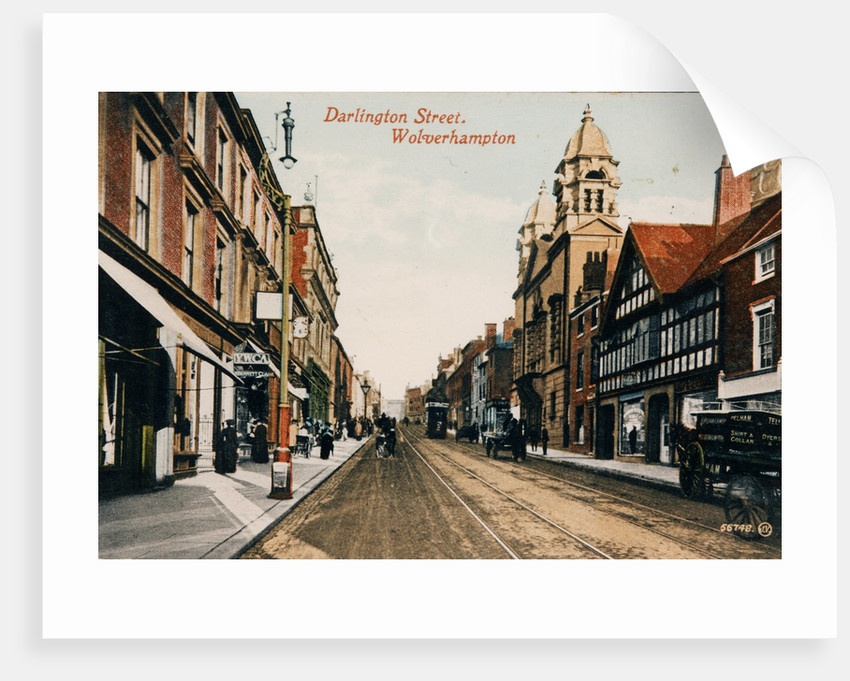 Darlington Street, Wolverhampton, circa 1910 by unknown
