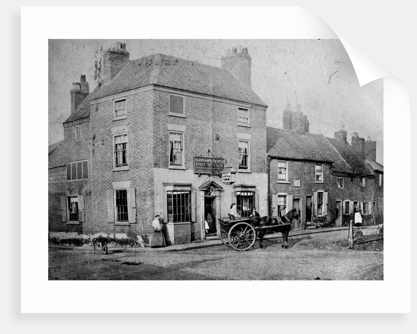 Elephant and Castle Inn, Wolverhampton, circa 1876 by unknown