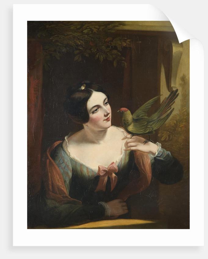The Pet Bird, Mid 19th century by Daniel Maclise