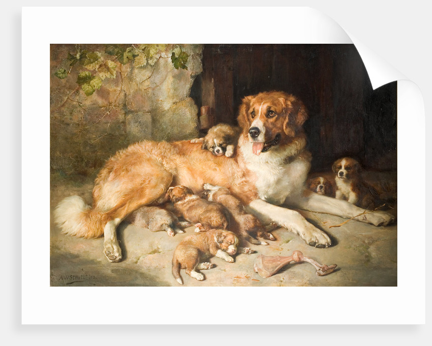 Materfamilias, 1870 - 1883 by Alfred William Strutt