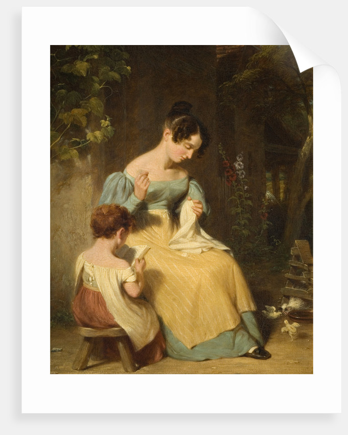 The Lesson, Mid 19th century by William Frederick Witherington