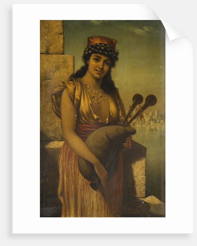Girl with Bagpipes, Late 19th century by Em Samarco