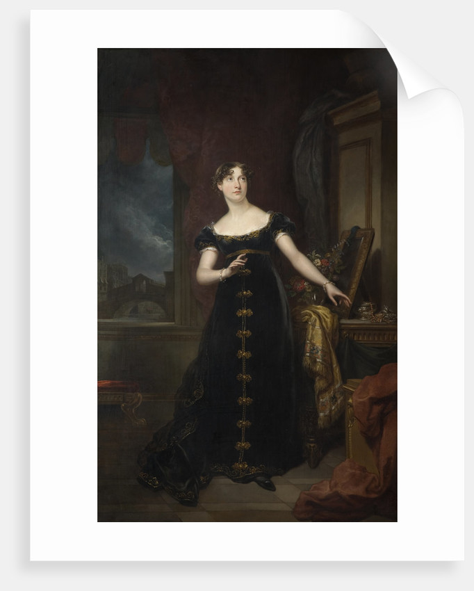 Miss Eliza O'Neill as Belvidera in Otway's 'Venice Preserved', circa 1820 by Arthur William Devis