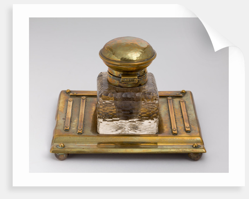 Inkwell and stand that belonged to Jerome K. Jerome, 1890 - 1927 by unknown
