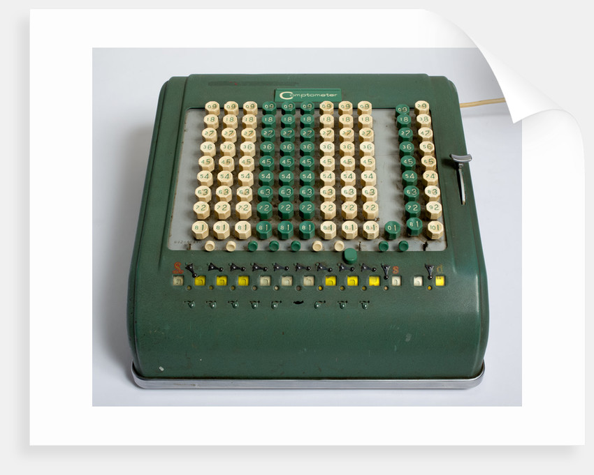 Comptometer calculating machine, 1950s by unknown