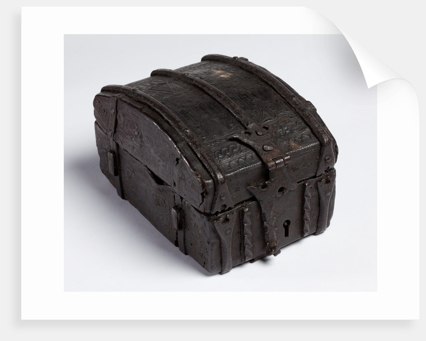 Box covered with tooled leather, 1538 by unknown
