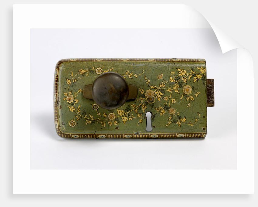 Ornamental rim lock by unknown