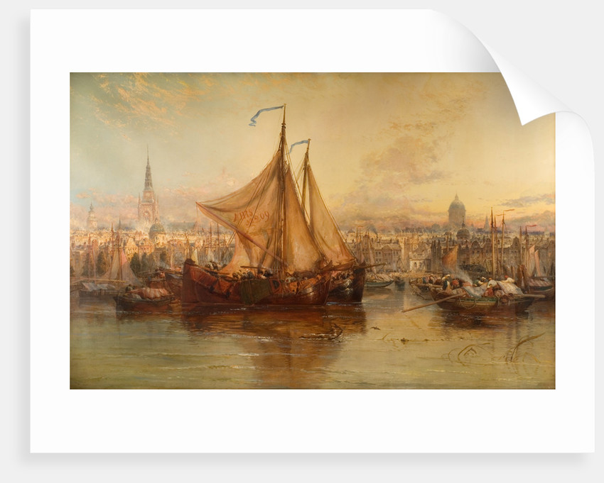 The Harbour Amsterdam, 1876 by James Webb