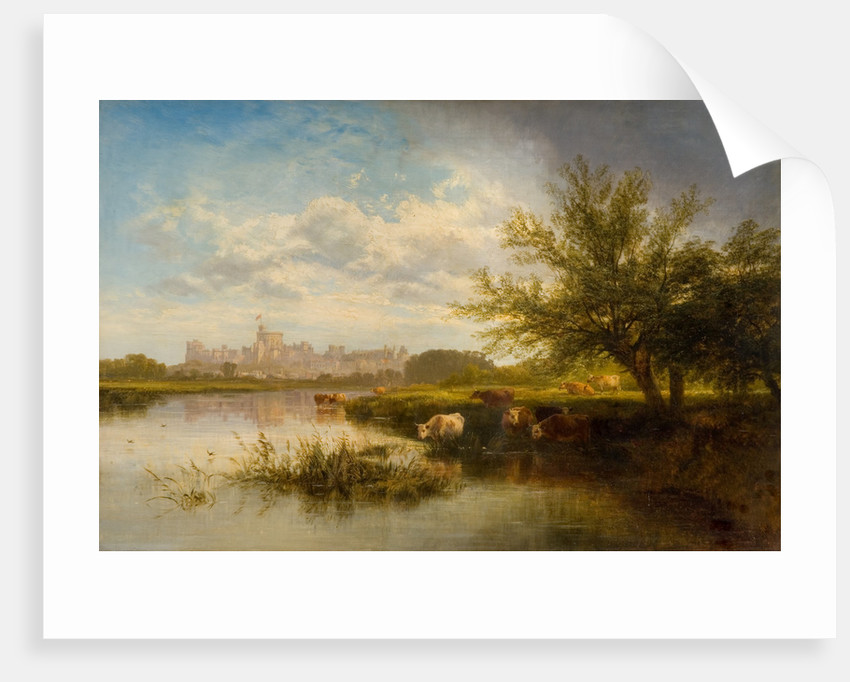 Windsor Castle from the Thames, 1876 by George Coal