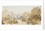 Dudley Market Place, c.1870 by Louise Rayner