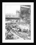 Foundation of open-mouth furnace, Bilston Steelworks, Bilston, 1906 by unknown
