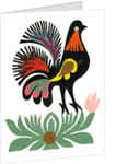 Traditional Cut Paper: Bird Design by unknown