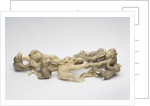 Carved ivory okimono: monkeys playing by unknown