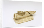 Ivory netsuke: Mouse in a bamboo shoot by unknown