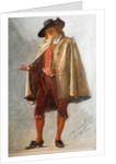 Flight of Five Members (Eleven Studies 3 - 11). Standing Man, 1915 by John Seymour Lucas