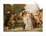 The World Forgetting - Sunday Afternoon in Kensington Gardens, AD 1780, 1877 by John Horsley