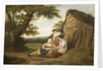 Landscape with Three Figures, Early 19th Century by William Collins