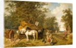 The Timber Wagon, 1858 by John Fredrick Herring