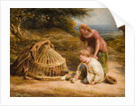 Feeding the Chicks, 1862 by John Linnell