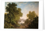 Lake Scene with Boats and Figures, Early 19th Century by Patrick Nasmyth
