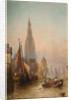 On the Scheldt at Antwerp, 19th century by Alfred Montague