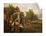 An Old Mill Near Worcester, 1880 by Benjamin Williams Leader
