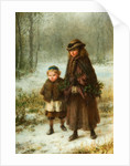 A Winters Morning Walk, 1864 by George Henry Boughton
