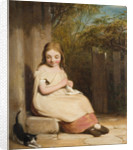Young Girl with Kitten, 19th century by William Mulready