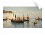 Bell Trawlers Going Out To Sea, 1882 by Hamilton Macallum
