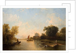 Eton College From The River, Mid 19th century by Alfred Montague