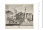 The South West View of the Collegiate Church of St Peter and Market Place, Wolverhampton, 1824 by unknown