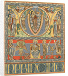 Copy of a page from a 12th century Flemish bible, 1900 by George Wallis
