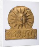 Sun Alliance firemark, 1774 by unknown