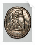 Bear and ragged staff plaque in silver, 1678 by unknown