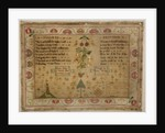 "Sampler, Psalm 23 and Proverbs 31, ""Ann Allen her Work Nov 15 1786"" by unknown"
