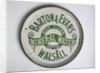 Advertising tray for Barton and Evans Mineral Waters of Walsall by unknown