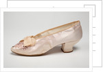 Pink silk wedding shoes, 1895 by unknown